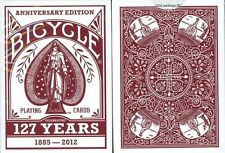 127 Years Anniversary Bicycle Playing Cards Poker Size Deck USPCC Custom Limited