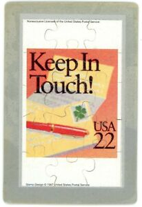 Keep In Touch Special Occasion Stamp 1987, Commemorative Puzzle Series Postcard
