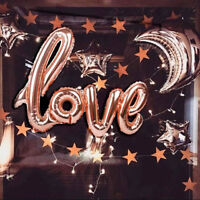 "42"" Rose Gold Love Heart Foil Balloon Engagement Wedding Birthday Party Decor JT"