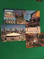 Vintage Downtown Atlanta Postcards Georgia Dome Turner Field Underground