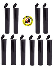 10 Black Opaque Odorless Child Proof Cigarette Joint Doob Tube Squeeze Top