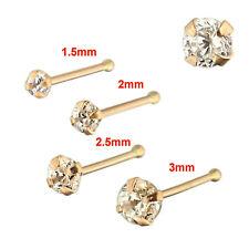 Nose Stud Bones 9k Carat Genuine Rose Gold Set of 4 22g