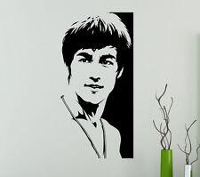 Bruce Lee Wall Vinyl Decal Film Actor Vinyl Sticker Martial Artist Home Decor 12