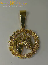 Solid Horse Head  Pendant  in Jewellers Bronze 9.7 gram Dipped in 9 or 18ct Gold