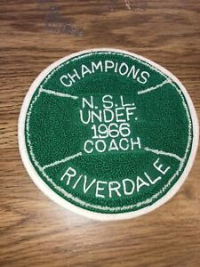 "1966 Emblem  N.S.L. Undef Coach  Champions Riverdale, Powers Mfg Co 6"" Soccer"