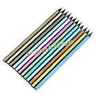 Fine 12Pcs Metallic Harmless Colored Drawing Pencils 12 Colors Drawing Sketching