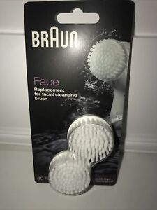 BRAUN FACE 2 REPLACEMENT BRUSHES  89  FACE WORTH £12.99