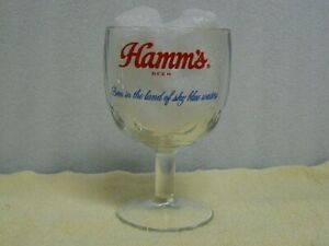 """Hamms Beer Goblet Style Glass """" born in the land of sky blue waters """""""