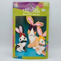 """Elinor Peace Bailey Alley Bunny Doll Kit Daisy Kingdom 100% Cotton 16"""" Rabbit"""