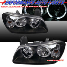 Set of Black Halo Projector Headlights for 2000-2001 Nissan Maxima GXE GLE SE