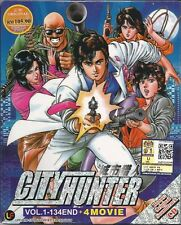 Anime DVD City Hunter Chapter 1-134 End + Movies Complete Box Set BB