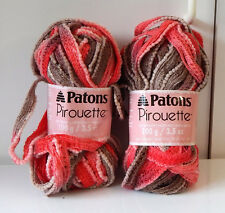 New listing Patons Pirouette Harvest Red Yarn - Set of 2 Skeins - Discontinued New
