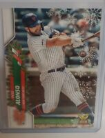 PETE ALONSO 2020 TOPPS HOLIDAY IMAGE VARIATION ORNAMENT SP NEW YORK METS
