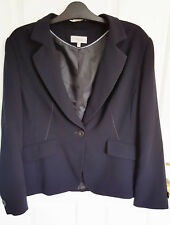 Marks and Spencer Size 20 -22 Navy Blue Jacket Blazer was £55 m&s
