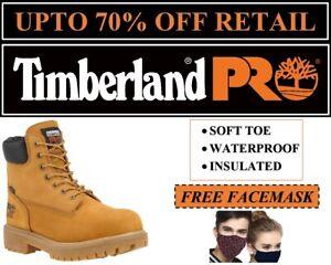 "Timberland PRO Men's Direct Attach 6"" Soft Toe Boots Wheat Nubuck TB065030-713"