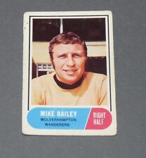 A & BC GUM CARD FOOTBALL ENGLAND 1969 MIKE BAILEY WOLVERHAMPTON WANDERERS WOLVES