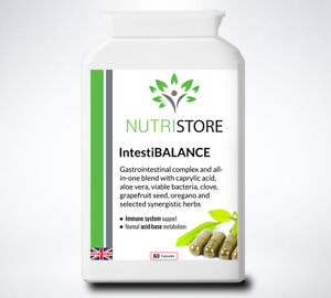 Colon Cleanse Herbal Probiotic with Friendly Bacteria No Bloating 60 Capsules
