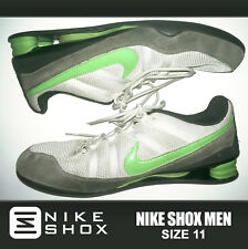 GREAT! Nike Shox Men Athletic Gray Green Running Shoe Crossfit Trainer SB Fitnes