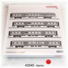 Märklin 43545 Jeu de Voitures de Banlieue La SNCB 4 pièces #neuf dans #