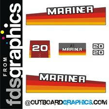 Mariner 20hp rainbow outboard engine decals/sticker kit