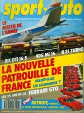 1987 Sport Auto Magazine: La Nouvelle Patrouille De France/Ferrari GTO/BX GTi 16