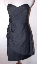 Twenty One Womens Dress Large Gray Strapless Bow Sweetheart Neckline Party Prom