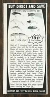 1967 Herter's Inc. Waseca MN Print Ad Herter's 305 Casting Set Lures Tackle
