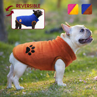 Dog Coats Winter Warm Jacket Small French Bulldog Clothes Reversible Schnauzer