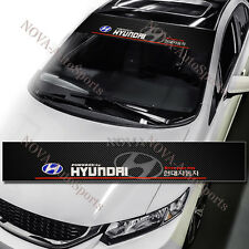 "53"" Car Window Windshield Carbon Fiber Vinyl Banner Decal Sticker For Hyundai"