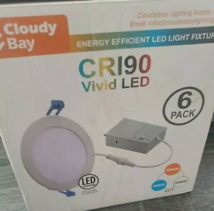Cloudy Bay CRI90 White Indoor LED Recessed Ceiling  Vivid LED Lighting 6 pack