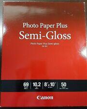 "CANON Photo Paper Plus Semi-Gloss 8"" x 10"" (50 Sheets) SG-201 PIXMA NIP"