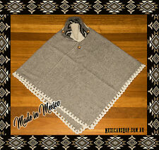 Women's Cape, Coat, Batwing poncho, Mantle, 100% Wool, Made in Mexico,