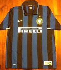 Mint Nike INTER MILAN 2007/08 Home Football Soccer Jersey Maglia Shirt XL Calcio