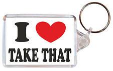 I Love (Heart) Take That - Double Sided Large Keyring Novelty Gift/Present