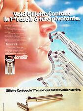 publlicité Advertising 028  1979   rasoir  Gillette contour