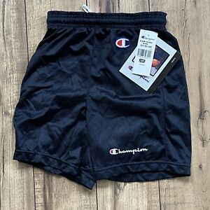 Vintage 90s Champion Youth Medium (10-12) Black Mesh Shorts Made in USA NWT