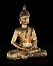 Tealight Holder - Seated Thai Buddha - Figurine Statue Deco Candle Holder