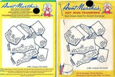 Colonial Girl Motifs Aunt Martha's Hot Iron Transfers #3188 lot of 2