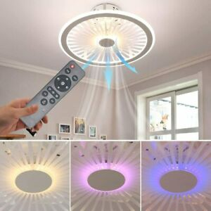 Acrylic LED Flush Mount Dimmable Ceiling Fan Light - RGB 3 Speed - Brand new