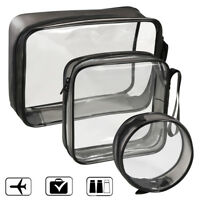 Transparent Cosmetic Case Clear Plastic PVC Travel Cosmetic Make Up Toiletry Bag