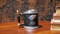 "Game of  Thrones 3D Mug (Stainless Steel Cup and Plastic cover): "" House Stark """