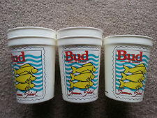 Set of 5 Budweiser Summer Plastic Tumblers with Fish