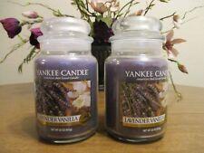YANKEE CANDLE LAVENDER VANILLA 22 OZ JAR CANDLES LOT OF 2