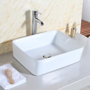 Modern Bathroom Sink Hand Wash Basin Counter Top Wall Hung Ceramic 400×300mm