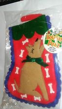 "SPOT XMAS FELT DOG & BONE 10"" STOCKING CHRISTMAS HOLIDAY FREE SHIP TO THE USA"