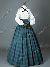 Victorian Dickens Faire Plaid Dress Set Country Maid Little Women Gown 314 Xxxl