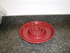 Longaberger Woven Traditions Pottery Paprika Red Chip and Dip Bowl
