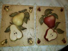Home Interior Resin Raised Fruit Plaques Euc