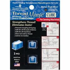 Thread Magic CUBE - Thread Conditioner Pack of 2 For Sewing Machines & Hand Use