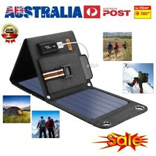 14W Solar Panel Charger USB Battery Charger Power Bank Camping Hiking Backpack